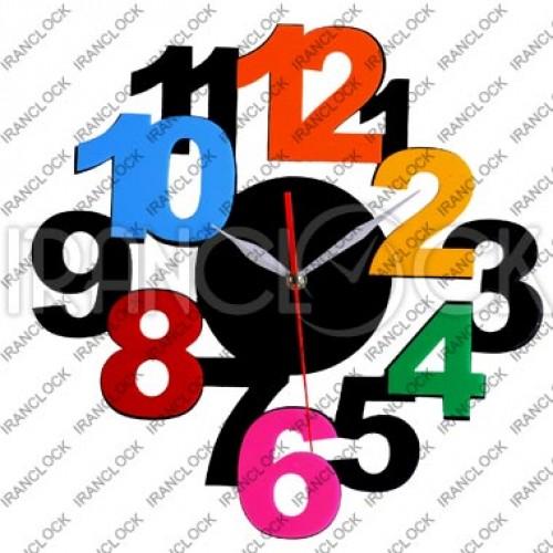 ساعت دیواری فانتزی رنگین کمان
