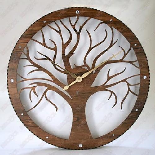 ساعت دیواری کلاسیک چوبی درخت