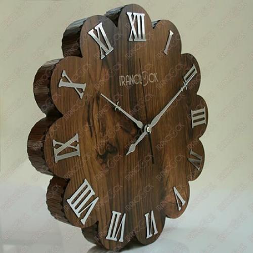 ساعت دیواری کلاسیک چوبی گل