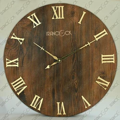 ساعت دیواری کلاسیک چوبی دایره